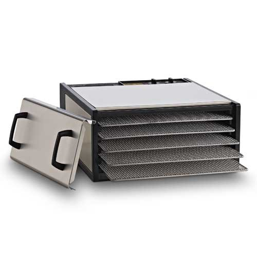 Excalibur 5-Tray Stainless Steel w/StainlessTrays Model D500SHD