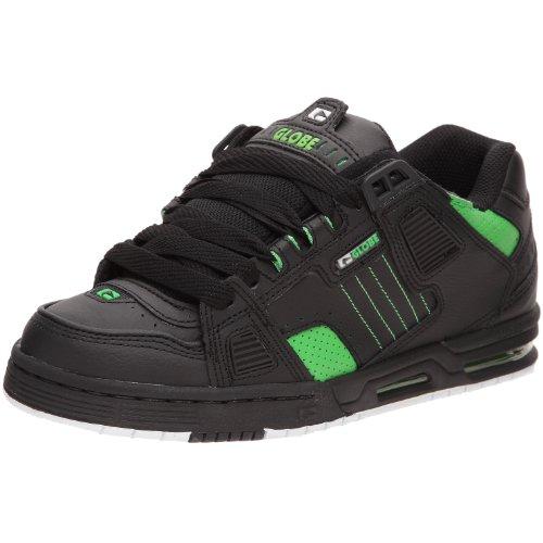 Globe Sabre - Scarpe Da Skateboard Unisex Adulto, Nero (Black/Moto Green), 41