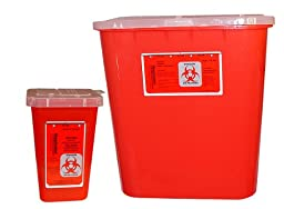 BIOHAZARD CONTAINER, MEDIUM, 2 GALLON, 2/CS