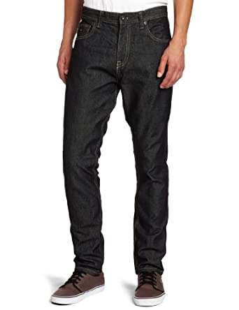 Zoo York Men's Bowery Tapered Fit Raw Jean, Black, 30/30