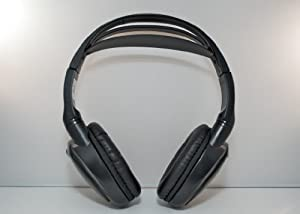 Wireless DVD Headphones Kids Headset for Chevy Avalanche (Black)