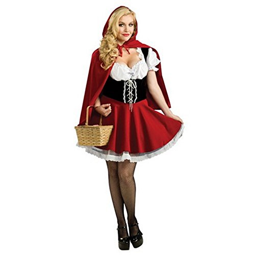 Halloween Christmas Costume Sex Mini Skirt For Little Red Riding Hood Small (Red Riding Hood Cape For Teens compare prices)