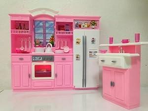 Barbie size dollhouse furniture my fancy life kitchen for Kitchen set toys amazon