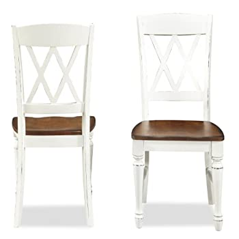 Home Styles 5020-802 Monarch Double X-back Dining Chair, Set of 2