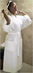 Waffle Weave Spa Robe, Small/Medium, Natural