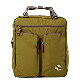 DYJ® Stylish Diaper Backpack with Changing Pad, Multi-purpose Larger Capacity Travel Diaper Bag for Moms and Dads (Khaki)