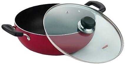 Vinod-Cookware-Zest-Non-Stick-Induction-Friendly-Kadhai-With-Lid-(2.6-L)