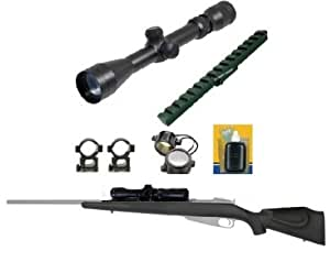 Ultimate Arms Gear Tactical 2-7x32 Long Eye Relief Scope Package + Mosin Nagant Scout Weaver Rail Mount + Advanced Technology ATI Mosin Nagant Monte Carlo Stock Combo Kit