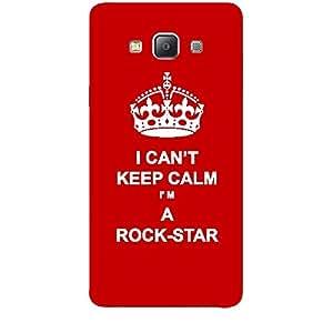 Skin4gadgets I CAN'T KEEP CALM I'm A ROCK-STAR - Colour - Red Phone Skin for SAMSUNG GALAXY A7 (A700)