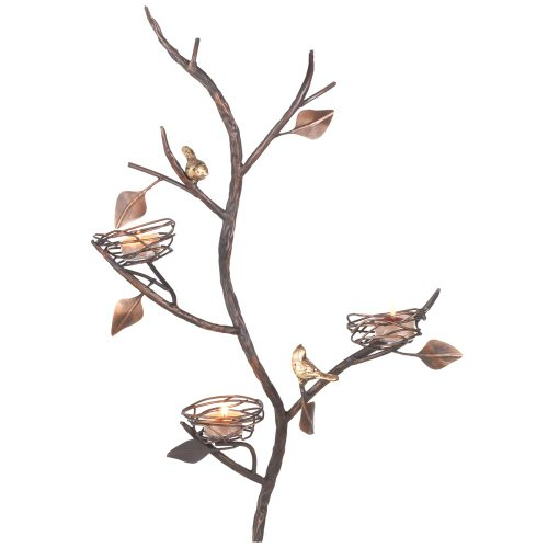 Wall Sconces With Birds : decorative wall sconces: Buy Midwest-CBK Three Bird Nest Wall Sconce Tealight Holder