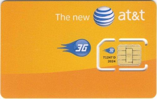 AT&T SIM CARD FOR PREPAID OR POSTPAID