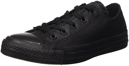 CONVERSE Unisex Chuck Taylor All Star Ox Fashion Sneaker Leather Shoe - Black Mono - Mens - 7