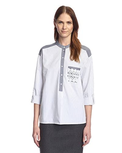 Rue 58 Women's Striped Boy Shirt