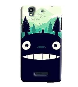 Blue Throat Monster Bonga Smiling Made Of Nature Printed Designer Back Cover For Micromax Yu Yureka