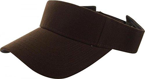 Brown_Plain Visor Sun Cap Hat Men Women Sports Golf Tennis Beach New Adjustable (US Seller)