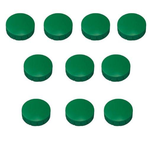 30x Grüne Magnete, ?15, 20, 24 mm, Haftmagnete Grün für Whiteboard, Kühlschrank, Magnettafel, Magnetset 3 verschieden Größen, Grün