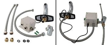 Robinet automatique infrarouge pour lavavo vasque chrome cuisine maison o220 - Robinet automatique a detecteur infrarouge ...