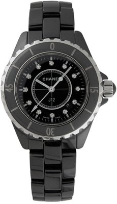 NEW CHANEL CERAMIC LADIES 33MM WATCH H1625 J12