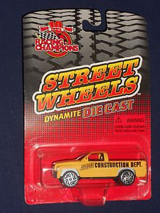 Racing Champions, Street Wheels Dynamite Die Cast: Construction Dept. Pickup - 1