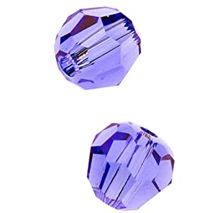 "SWAROVSKI ELEMENTS Crystal #5000 4mm Round Beads ""Tanzanite"" (12)"