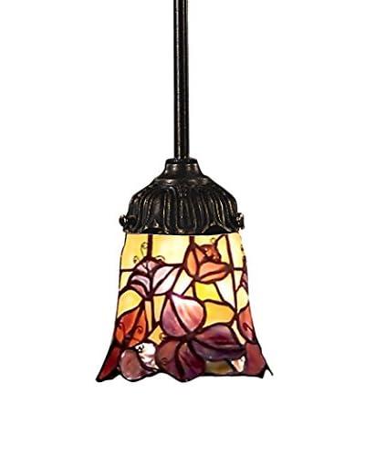 Artistic Lighting Mix-N-Match Tiffany LED Pendant, Purple/Bronze