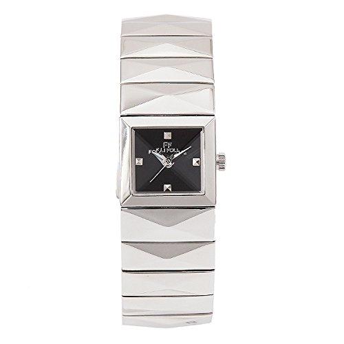 (フォリフォリ) FOLLI FOLLIE フォリフォリ 時計 レディース FOLLI FOLLIE WF1T009BDKXX ブレスレット バングル 腕時計 ウォッチ シルバー/ブラック[並行輸入品]