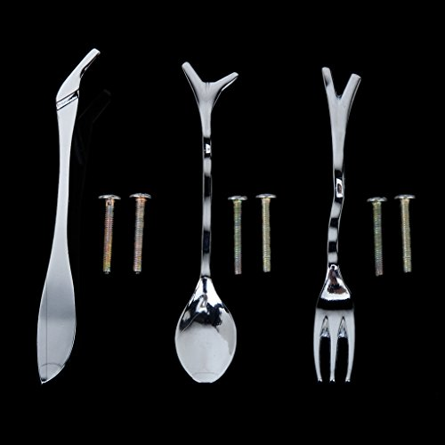 1pcs fork 1pcs knife 1pcs spoon shape handle kitchen cabinet closet drawe - Stickers placard cuisine ...