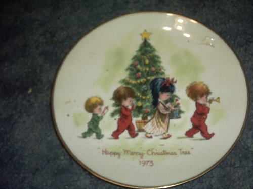 Gorham 1973 Moppets Christmas Plate First Edition