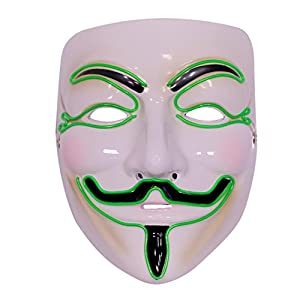 Emazing Lights Guy Fawkes V For Vendetta Light Up Mask (Green)
