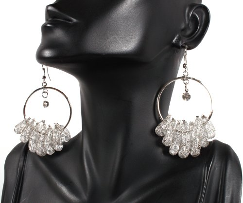 Basketball Wives Silver Capsule Style Drop Earrings Mob Poparazzi