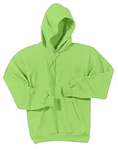 Port & Company Men'S Comfort Perfect Hooded Long Sleeve Sweatshirt,Large,Lime