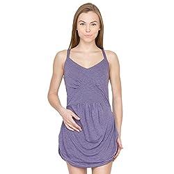 Species Women's Bubble Hem Dress (S-4323_Blue_X-Large)