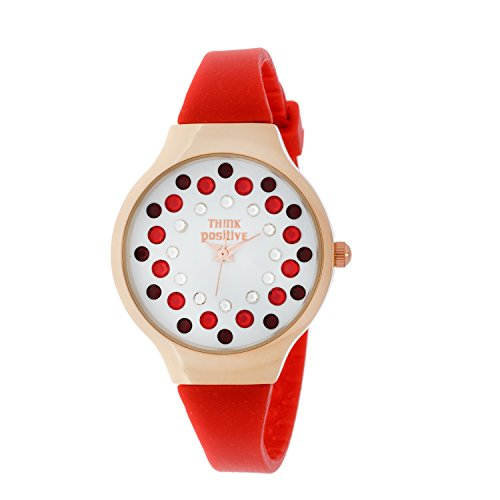 ladies-think-positiver-model-se-w89-small-rose-strap-of-rubber-color-red