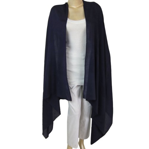 Wool Wrap Shawl in Blue Color Womens Casual Clothing Size: 203 X 91 Cm