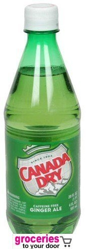 Canada Dry Ginger Ale, 16.9 oz Bottle (Pack of 24)