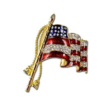 Elegant Waving Flag Pin/Brooch