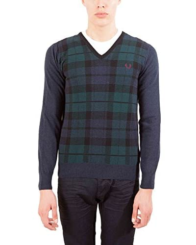 Fred Perry Jersey Azul / Verde 2XL