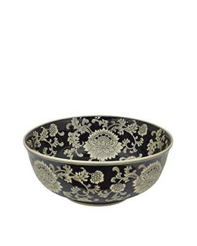 Three Hands Black Ceramic Bowl