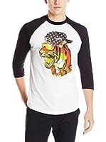 Neff Camiseta Manga Larga Fang Raglan (Blanco)