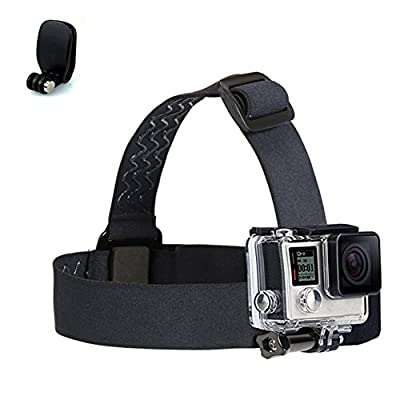 GeniusPro Head Strap Mount GoPro with Quick Clip Elastic Adjustable Head Strap For Hero 4/3+/3/2/1/SJ4000/H 264/XIAOY I Anti-slide Glue