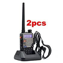 2XPofung UV-5RE Plus(UV-5R+) Dual-Band 136-174/400-480 MHz FM Ham Two-way Radio, Improved Stronger Case, More Rich and Enhanced Features (2 PACKS)