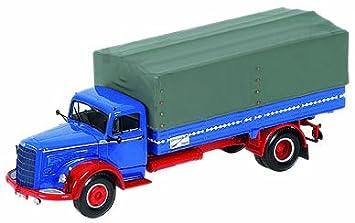 Minichamps - Vehicules  - 439034420 - Mercedes L315 Prische 1954 bleu/rouge - 1/43