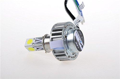 Suparee 1 Pc 6-36V Hi-18W/Lo-12W 2000Lm 6000K Led Headlight Fog Lights For Motorcycle H4 Ph7 Ph11