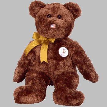 1 X TY Beanie Buddy - CHAMPION the FIFA Bear ( USA )