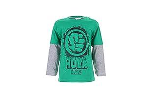 MARVEL Camiseta Manga Larga Hulk Splat (Verde / Gris)