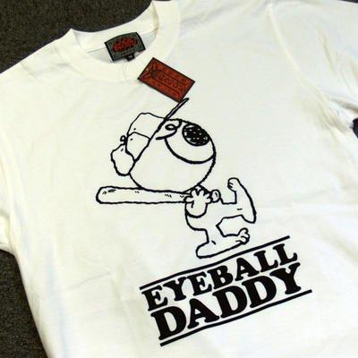 妖怪Tシャツ白ベースボール目玉親父ぬらりひょん呉服ゲゲゲの鬼太郎XLサイズ