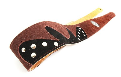 Dark Brown Guitar Strap: 'Studded' Suede Electric/Acoustic/Electro/Bass (1.31M)