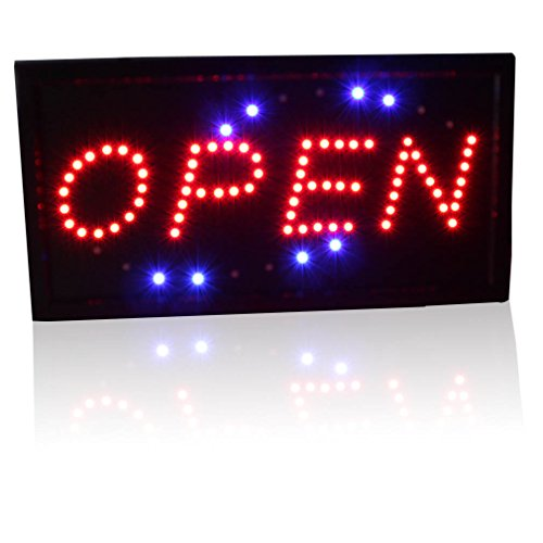 Slim Animated Led Neon Light Open Window Sign Bright Display For Pub Beer Bottle Store Shop
