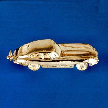 9ct Yellow Gold Jaguar E-Type Car Charm