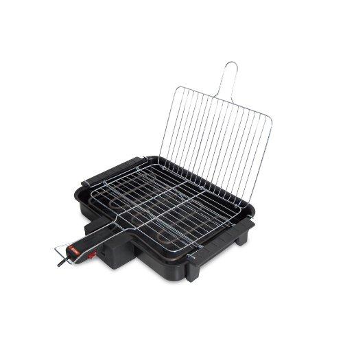 Beper 90,383-Barbecue elettrico, 2000 W, colore: nero
